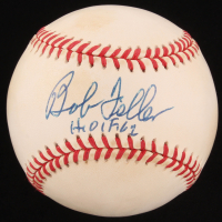 "Bob Feller Signed OAL Baseball Inscribed ""H.O.F. 62"" (JSA COA) at PristineAuction.com"