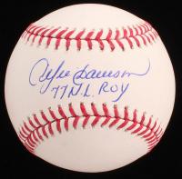 "Andre Dawson Signed OML Baseball Inscribed ""77 N.L. ROY"" (JSA COA) at PristineAuction.com"