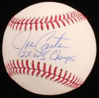 "Joe Carter Signed OML Baseball Inscribed ""2x WS Champ"" (JSA COA) at PristineAuction.com"