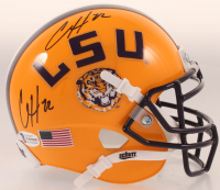 Clyde Edwards-Helaire Twice Signed LSU Tigers Speed Mini-Helmet (Beckett COA) at PristineAuction.com