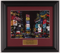 "LeRoy Neiman ""Times Square"" 12.5x14 Custom Framed Print Display at PristineAuction.com"