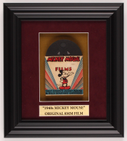 Vintage 1940s Walt Disney's Mickey Mouse 9.5x10.5 Custom Framed Film Reel Display at PristineAuction.com