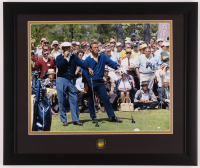 Arnold Palmer & Ben Hogan 16x19 Custom Framed Photo Display with Masters Pin at PristineAuction.com