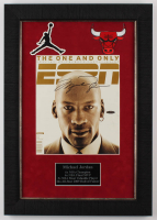 Michael Jordan Signed ESPN 16x24 Custom Framed Magazine Cover Display (UDA Hologram) at PristineAuction.com