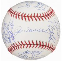2003 Yankees World Series Baseball Team-Signed by (31) with Derek Jeter, Mariano Rivera, Joe Torre, Mike Mussina (MLB Hologram) at PristineAuction.com