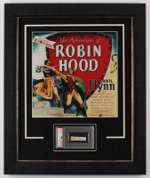 "Errol Flynn Signed ""The Adventures of Robin Hood"" 20x24 Custom Framed Cut Display (PSA Encapsulated) at PristineAuction.com"