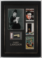 Harry Langdon Signed 20x27 Custom Framed Cut Display With Hand-Drawn Sketch (PSA Encapsulated) at PristineAuction.com