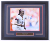 Rose Lavelle Signed Team USA 18.25x22.25 Custom Framed Photo Display (JSA COA) at PristineAuction.com