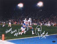 """Don Beebe Signed Bills 11x14 Photo Inscribed """"Never Give Up! (Playball Ink Hologram) at PristineAuction.com"""