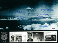 Hiroshima Mushroom Cloud 9x12 Photo Signed by (5) with Paul Tibbets, Dutch Van Kirk, Morris Jeppson, C. D. Albury (PSA LOA) at PristineAuction.com