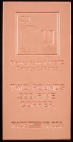 "2 Pounds .999 Fine Copper ""Periodic Table"" Bullion Bar at PristineAuction.com"