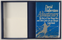 "David Halberstam Signed ""The Amateurs"" Hardcover Book With Extensive Inscription (Beckett COA) at PristineAuction.com"