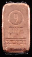 9 Fine Mint .999 Fine Copper 10 ADVP Oz. Bar at PristineAuction.com