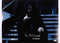 """Ian McDiarmid Signed """"Star Wars"""" 16.5x20.5 Photo Inscribed """"Emperor"""" (JSA Hologram) at PristineAuction.com"""