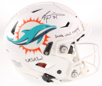 Ricky Williams Signed Dolphins Full-Size Authentic On-Field SpeedFlex Helmet with (3) Inscriptions (JSA COA) at PristineAuction.com