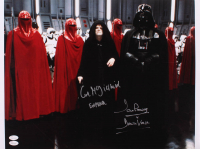 "Ian McDiarmid & David Prowse Signed ""Star Wars"" 16.5x20.5 Photo Inscribed ""Emperor"" & ""Darth Vader"" (JSA Hologram) at PristineAuction.com"