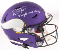 "Randy Moss Signed Vikings Full-Size Authentic On-Field SpeedFlex Helmet Inscribed ""Straight Cash Homie"" (Beckett COA) at PristineAuction.com"