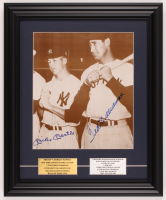Mickey Mantle & Ted Williams Signed Yankees 14x17 Custom Framed Photo Display (PSA LOA) at PristineAuction.com