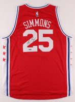 "Ben Simmons Signed 76ers Jersey Inscribed ""ROY 18"" (UDA COA) at PristineAuction.com"