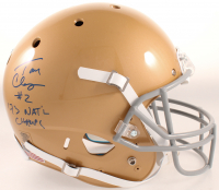 """Tom Clements Signed Notre Dame Fighting Irish Full-Size Helmet Inscribed """"'73 NAT'L Champs"""" (JSA COA) at PristineAuction.com"""