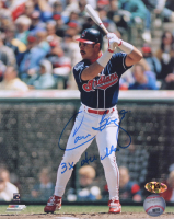 """Carlos Baerga Signed Indians 8x10 Photo Inscribed """"3x All Star"""" (MAB Hologram) at PristineAuction.com"""