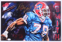 Bruce Smith Signed Bills 12x17.75 Lithograph (JSA COA) at PristineAuction.com