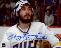 "Yvon Barrette Signed ""Slapshot"" 8x10 Photo Inscribed ""Denis Lemieux"" (COJO COA) at PristineAuction.com"