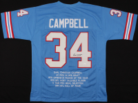 Earl Campbell Signed Career Highlight Stat Jersey (JSA COA) at PristineAuction.com