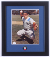 Yogi Berra Signed Yankees 13x15 Custom Framed Photo Display (JSA COA) at PristineAuction.com