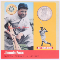 """Jimmie Foxx """"Legends of Baseball""""  Silver Coin with 6x6 Card Display at PristineAuction.com"""