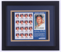 Mickey Mantle Yankees 13x15 Custom Framed Stamp Display at PristineAuction.com