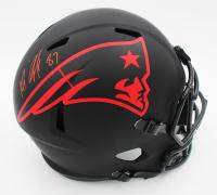 Rob Gronkowski Signed Patriots Full-Size Eclipse Alternate Speed Helmet (Radtke COA) at PristineAuction.com