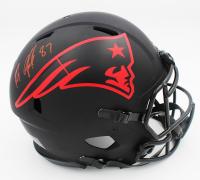 Rob Gronkowski Signed Patriots Full-Size Authentic On-Field Eclipse Alternate Speed Helmet (Radtke COA) at PristineAuction.com