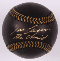 """Jose Canseco Signed OML Black Leather Baseball Inscribed """"The Chemist"""" (PSA COA) at PristineAuction.com"""