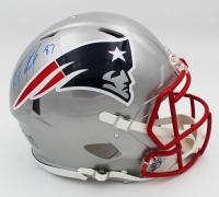 Rob Gronkowski Signed Patriots Full-Size Authentic On-Field Speed Helmet (Radtke COA) at PristineAuction.com