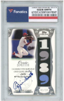 Ozzie Smith 2006 Topps Sterling Moments Relics Autographs #OSGG10 1989 (Fanatics Encapsulated) at PristineAuction.com