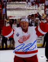 Dominik Hasek Signed Red Wings 8x10 Photo (PSA Hologram) at PristineAuction.com