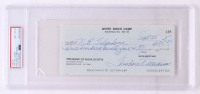 """Theodore """"Ted"""" Williams Signed Hand-Written 1987 Personal Bank Check (PSA Encapsulated) at PristineAuction.com"""