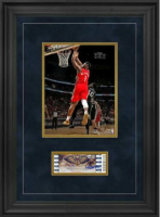 "Zion Williamson Signed Pelicans ""Debut"" 17x24 Custom Framed Ticket Display (Fanatics Hologram) at PristineAuction.com"