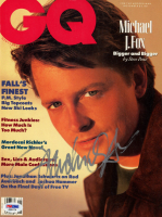 Michael J. Fox Signed 1988 GQ 8x10 Magazine Page Cover (PSA Hologram) at PristineAuction.com