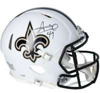 Alvin Kamara Signed Saints Full-Size Authentic On-Field Matte White Speed Helmet (Fanatics Hologram) at PristineAuction.com