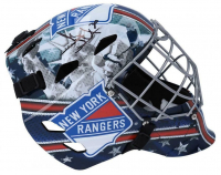 Henrik Lundqvist Signed Rangers Full Size Goalie Mask (Fanatics Hologram) at PristineAuction.com