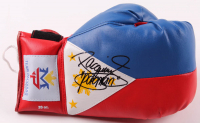 """Manny Pacquiao Signed """"Flag of the Philippines"""" Boxing Glove Inscribed """"Pacman"""" (Pacquiao COA) at PristineAuction.com"""