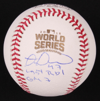 """Miguel Montero Signed 2016 World Series Baseball Inscribed """"Last RBI GM 7"""" (Beckett COA) at PristineAuction.com"""