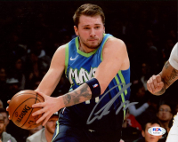 Luka Doncic Signed Mavericks 8x10 Photo (PSA COA) at PristineAuction.com