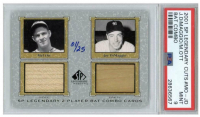 Mel Ott & Joe DiMaggio 2001 SP Legendary Cuts Game Bat Combo #MOJD (PSA 9) at PristineAuction.com