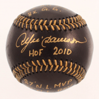 Andre Dawson Signed OML Black Leather Baseball with (5) Inscriptions (JSA COA) at PristineAuction.com