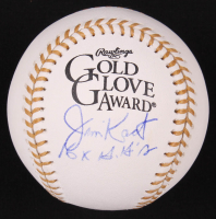 "Jim Kaat Signed Gold Glove Award Baseball Inscribed ""16x G'G's"" (PSA COA) at PristineAuction.com"