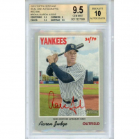 Aaron Judge 2019 Topps Heritage Real One Autographs Red Ink #ROAAJ (BGS 9.5) at PristineAuction.com