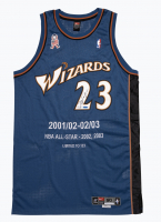 Michael Jordan Signed Wizards LE All-Star Stat Jersey (UDA COA) at PristineAuction.com